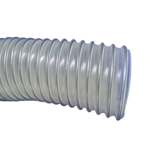 Anti-static Stainless Steel (Inox) Wire Reinforced Pharma Grade Super Heavy Duty Polyurethane Duct Hose