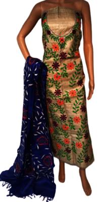 Kantha Hand Embroidered Pure Desi Kosa Silk Top