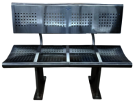Public Place Seating Chair 4 Seater