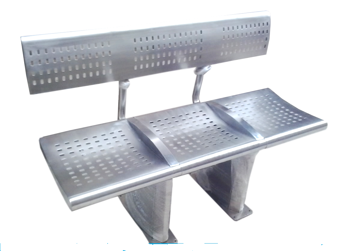 Public Place Seating Chair 3 Seater