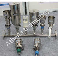 3-Branch Stainless Steel Solvent Filter Manifold
