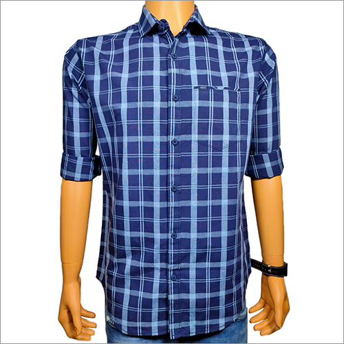 Mens Check Casual Shirt
