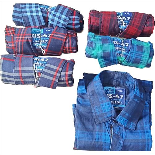 Mens Cotton Printed Check Shirts