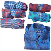 Mens Cotton Printed Check Shirts