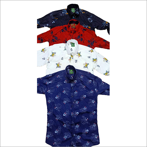 Mens Fancy Cotton Printed Shirts
