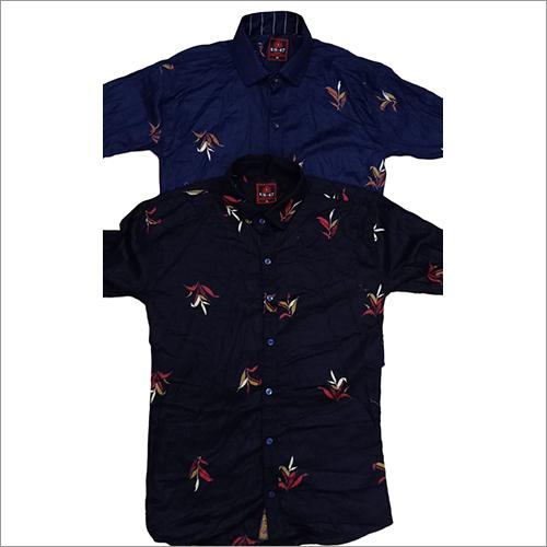 Mens Sliim Fit Printed Shirt
