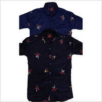 Mens Sliim Fit Printed Shirt