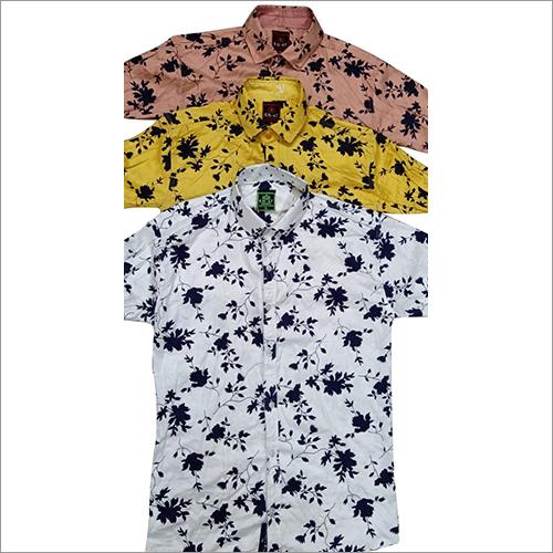 Mens Short Sleeve Printed Shirt