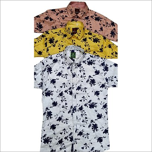 Mens Short Sleeve Printed Shirt Collar Style: Classic