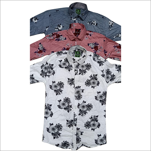 Mens Colored Printed Shirt