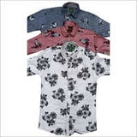 Mens Colored Printed Shirt