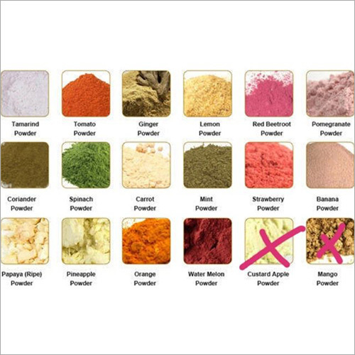 Dehydrated Fruits and Veg Powders