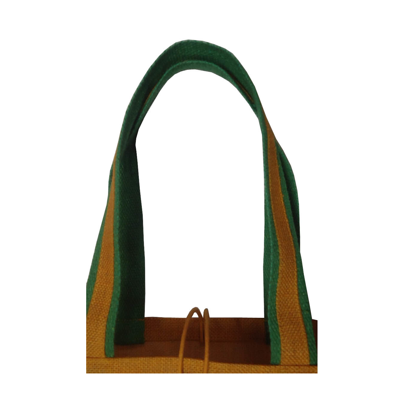 PP Laminated Jute Bag With Jute Trimmed Cotton Web Handle
