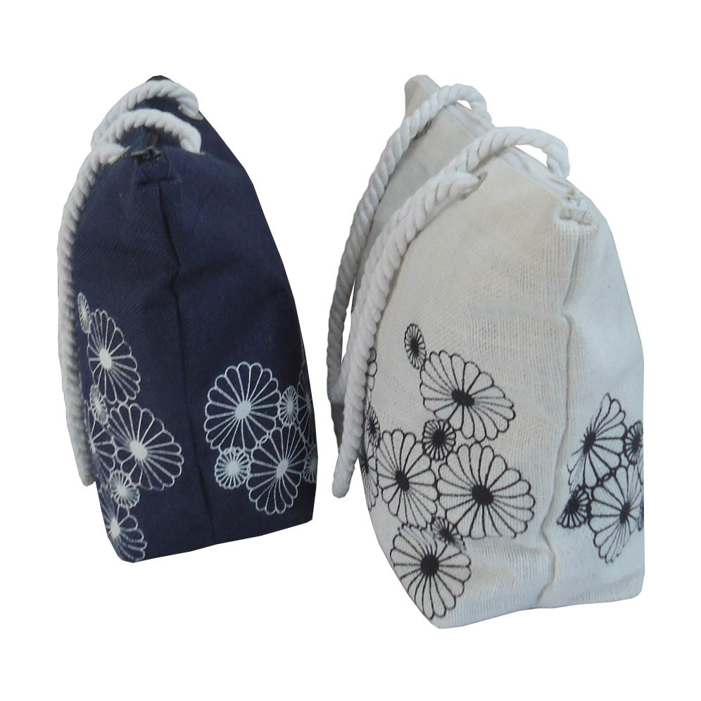 PP Laminated Jute Bag With Top Zip Closure & Inside Hanging Zip Pocket