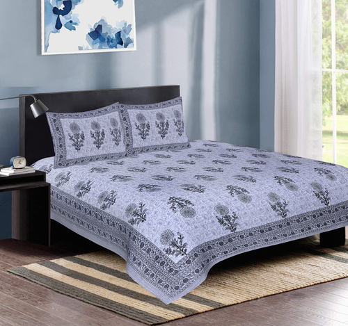Pure Cotton Double Bedsheet (90 x108 Inch)