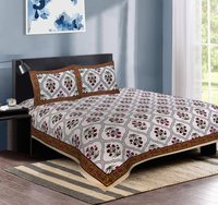 Pure Cotton Printed Double Bedsheet (90 x108 Inch)