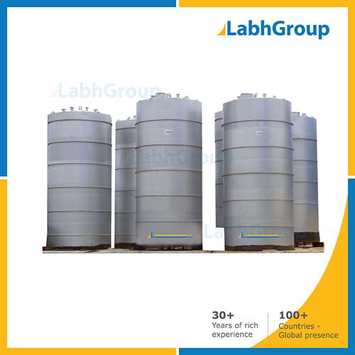 Mild Steel Vertical Bulk Storage Tank