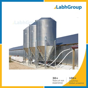 Stainless Steel Conical Bottom Silo