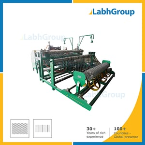 Automatic Metal Chain Link Fencing Making Machine