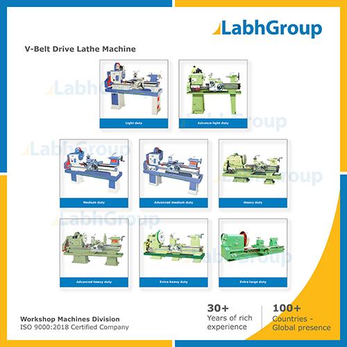 V-belt Drive Lathe Machine For Engineering Workshop