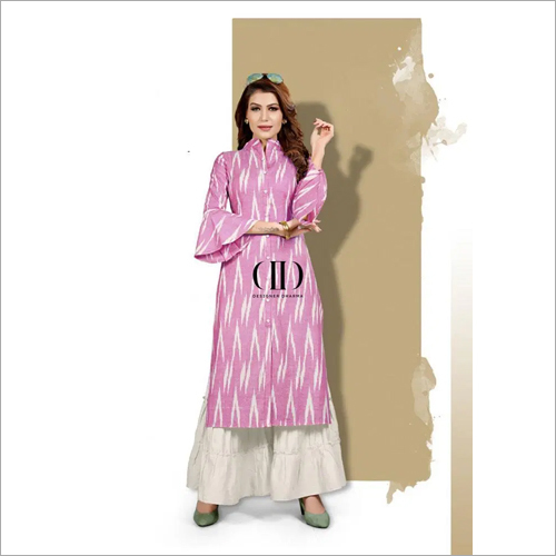 Ladies Casual Kurti With Palazzo