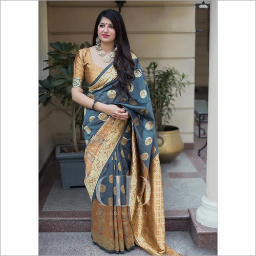 Ladies Fancy Soft Banarasi Silk Saree