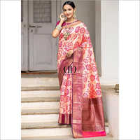 Ladies Designer Soft Silk Weaving Saree With Contrast Zari Woven Border