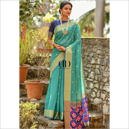 Ladies Designer Handloom Cotton Weaving Saree
