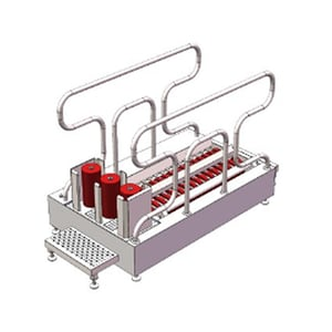 Disinfection Device With Shoe Brushes