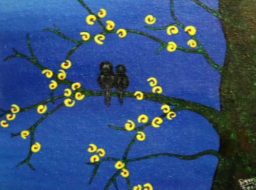 Love In Midnight Painting