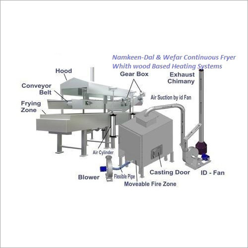 Mullty Product Snacks Continuous Fryer