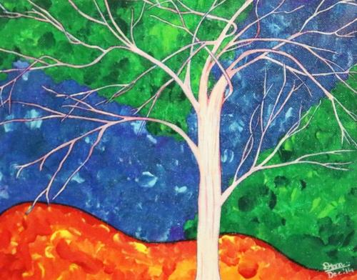Tree In Bloom Painting