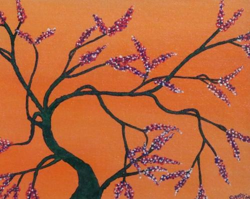 Tangerine Tree Painting