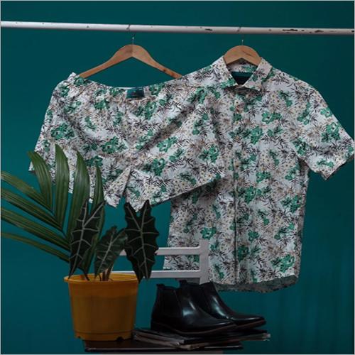 Mens Printed Shirt With Shorts