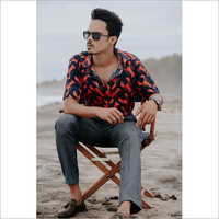 Mens Printed Shirt With Jeans