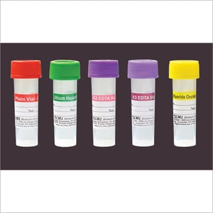 Blood Collection Vials with screw cap
