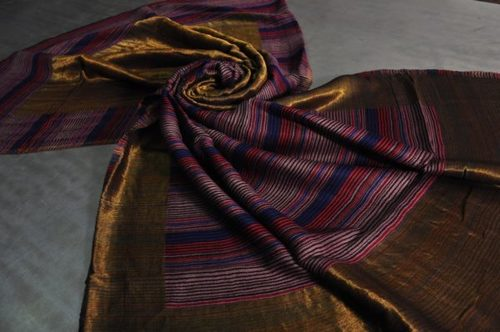 Fine Wool Zari Space Dyeing Shawls