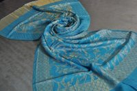 Fine Wool Zari Self Design Stole