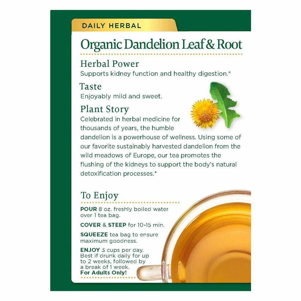 Traditionals Organic Roasted Dandelion Root 16 bags