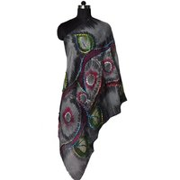 Wool Hand Paint Embroidery Stole