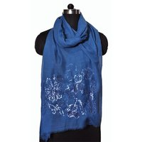 Wool Flower Sequence Stole