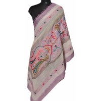 Wool Crystal Embroidery Stole