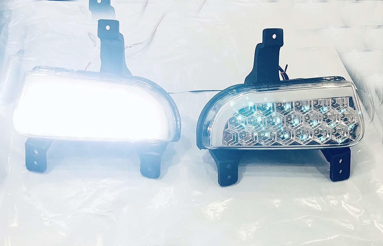 Car 21 Led Fog Light With Drl Day Running Light For Mahindra Scorpio Hawk (White)