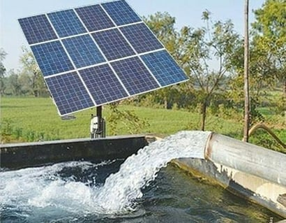 Crystalline Silicon Solar Water Pumping System