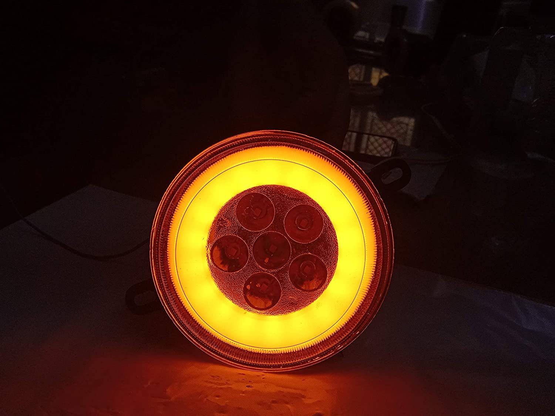 Car Fog Light for Mahindra Bolero Make 2020 With Yellow DRL Ring with 6 LED