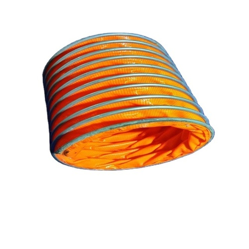 Fluorescent orange color clamp Profile Tarpaulin Hose