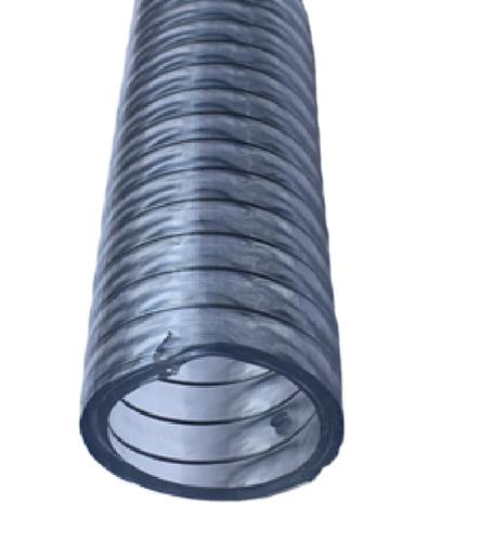 Steel reinforced transparent food grade PVC hose