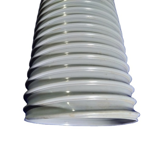 Steel Wire Reinforced Soft PVC Grey Duct Hose