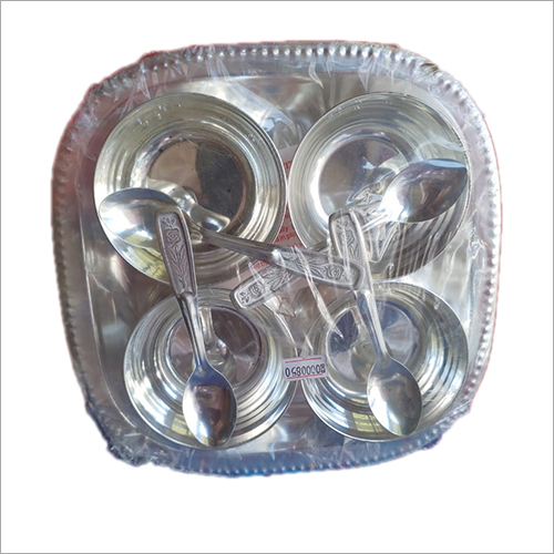 4 Bowel With Spoon And Tray Set