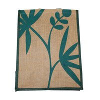 Pp Laminated Jute Bag With Jute Handle & One Color Print One Side